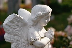 Angels are often seen on the graves of children.