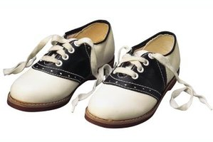 Saddle shoes were all the rage in the 1950s.