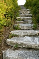 This is one style of stone landscape steps.