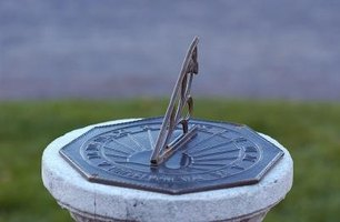 Tell the time of day with a garden sundial.