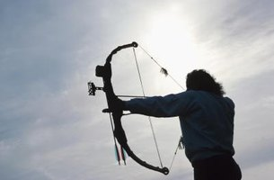 Change the draw length of a compound bow by adjusting the cams.