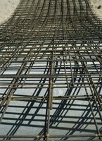 Rebar must be tied together with steel wire to maintain optimum strength.