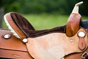 The underside of a Western saddle is usually lined in sheepskin.