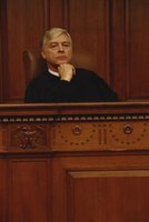 A default judgment is ordered by a judge.