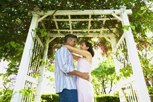 A simple pergola can add a romantic touch to your backyard.