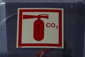 Carbon dioxide is stored under pressure.