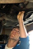 Repairing a vehicle's oil pan requires access to the vehicle's undercarriage.