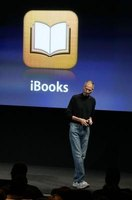 Apple CEO introducing the iBooks app and virtual bookstore.