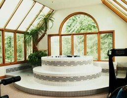 Flexible PVC is often used in pools and spas.