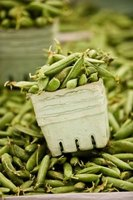 Green beans are also called string beans or snap beans.
