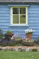 White window colors work well with blue siding.