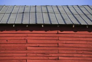 Lapping metal roofing prevents leaks.