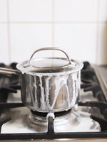 Boiling rice over high heat can cause it to burn.