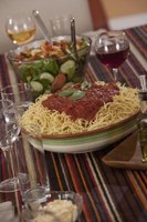 Serve spaghetti sauce on top of cooked, plain noodles.