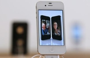 The iPhone's high-resolution screen provides a crisp video display.