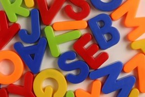 The alphabet is a suitable theme for 2-year-olds.