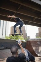 The skateboarder's trick can be a single video clip or a longer one.