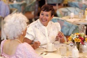 Ladies luncheons can involve all generations of women or can be planned for a certain age group of women.