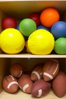 Use a variety of balls to play some competitive games.