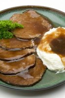 Gravy and other sauces must be degreased before serving.