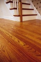 Cleaning solutions should not be poured directly on wood floors.
