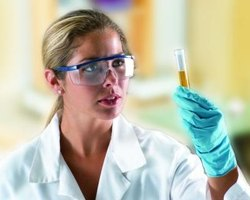 Laboratory technicians conduct analysis on chemicals and other substances.