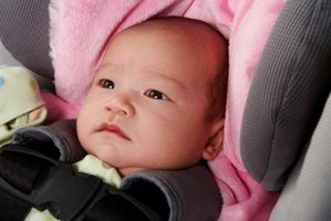 Adjust your child's car seat straps as your child grows.