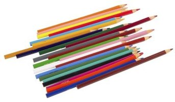 Colored pencils come in dozens of vibrant colors, perfect for rainbows.