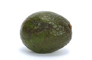 Sharwil avocados are green-skinned and pear-shaped.