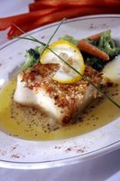 Pan fried sea bass is both healthy and delicious.