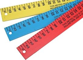 A ruler is the perfect tool to use when you draw the number 1 in 3-D.