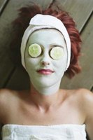 Facialists apply masks and lotions to improve skin condition.