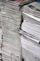 Turn old newspaper into new usable paper.