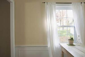 Wainscoting gives an elegant look to a room.