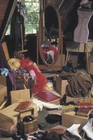 Hoarders have a difficult time getting rid of unused items.