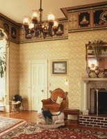 Oriental rugs and patterned walls were common during the late 1800s.