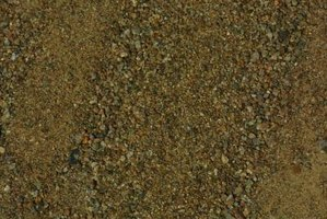 Sand and gravel are defined by the size of the individual particles.