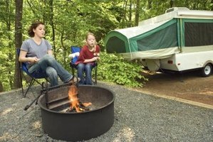 Smoke from campfires can penetrate into a nearby camper leaving odors.