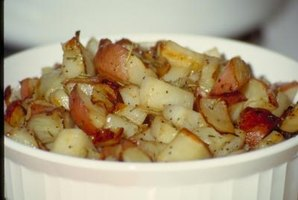 Roasted potatoes are a comforting side dish for a banquet.