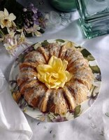 Glazes are often used on bundt cakes, which are hard to frost.