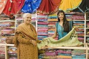 In India people wear salwars of vibrant colors.