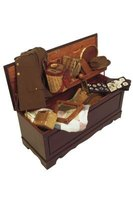 Cedar chests can hold a variety of items including pictures.