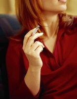 Cigarette smoke leaves a strong odor in a room.