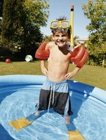 Children's pools can be a safe environment so long as they are placed in the right location.