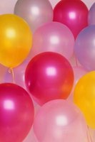 With some imagination, balloons can create exquisite birthday party decorations.
