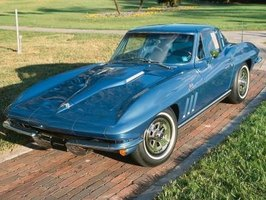 The second-generation Chevrolet Corvette was equipped with the Powerglide automatic transmission.