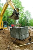 Septic tanks lids and risers can be insulated to provide protection from freezing temperatures.