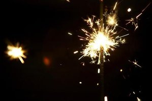Turn your leftover sparklers into a sparkler rocket.