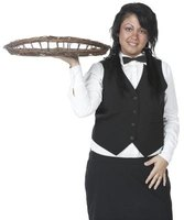 The waitress serves guests and creates a memorable dining experience.