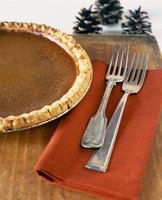 Pumpkin pie combines the flavors of cloves, cinnamon, all-spice and ginger.